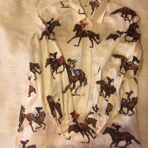 Escada Race Horse Blouse